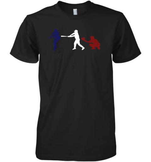 Baseball USA Flag American Tradition Spirit Premium Men's T-Shirt
