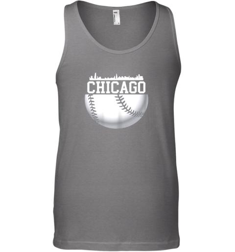 utc4 vintage downtown chicago shirt baseball retro illinois state unisex tank 17 front graphite heather
