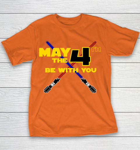 Star Wars Shirt May the Fourth Be With You Lightsaber Youth T-Shirt 4
