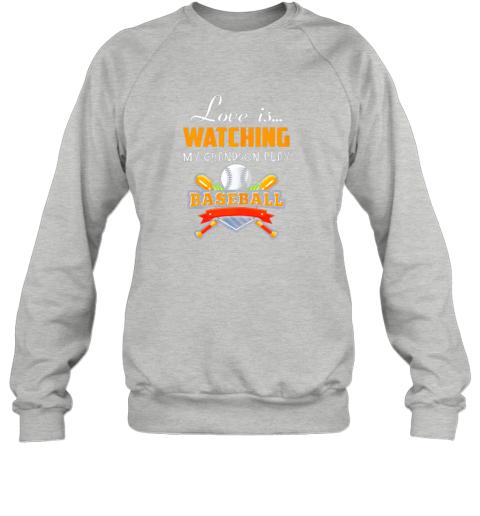 brqk love is watching my grandson play baseball shirt grandma sweatshirt 35 front sport grey