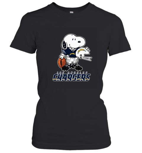 Snoopy A Strong And Proud Los Angeles Chargers NFL Women's T-Shirt