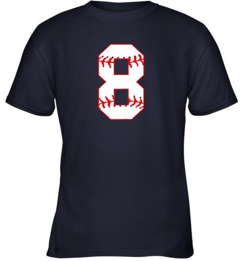 4bq0 cute eighth birthday party 8th baseball shirt born 2011 youth t shirt 26 front navy