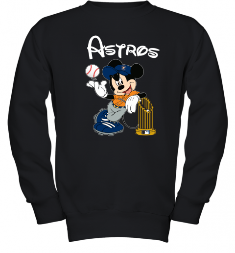 Astros Mickey Taking The Trophy MLB Youth Sweatshirt