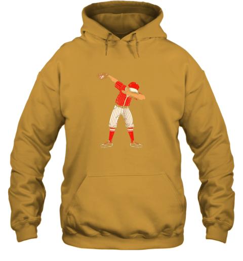 ykjq dabbing baseball catcher gift shirt men boys kids bzr hoodie 23 front gold