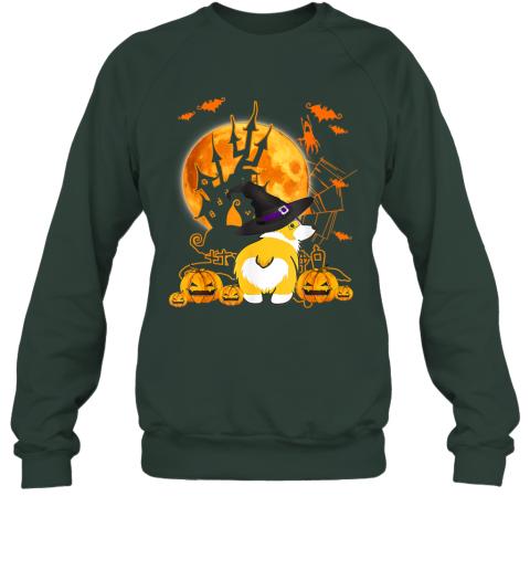 Halloween Corgi Witch T-shirt for Corgi Dog Lovers Sweatshirt