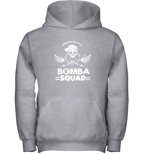 imaz bomba squad twins shirt minnesota baseball men bomba squad youth hoodie 43 front sport grey
