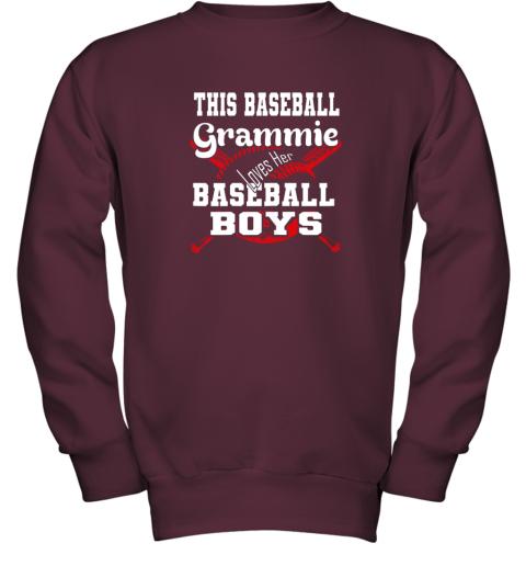 x2yv this baseball grammie loves her baseball boys youth sweatshirt 47 front maroon