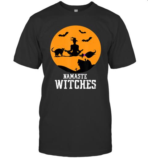 Namaste Witches Cat Yoga Halloween T-Shirt