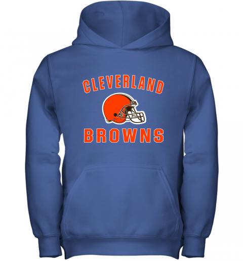 r6zh cleveland browns nfl line by fanatics branded brown victory youth hoodie 43 front royal