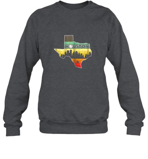 hpto houston retro baseball shirtvintage houston baseball sweatshirt 35 front dark heather