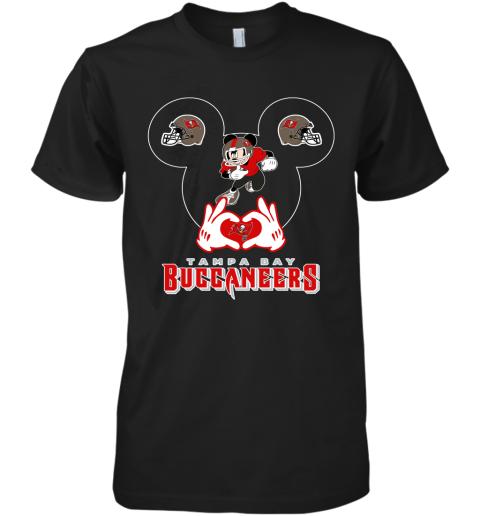 I Love The Buccaneers Mickey Mouse Tampa Bay Buccaneers s Premium Men's T-Shirt