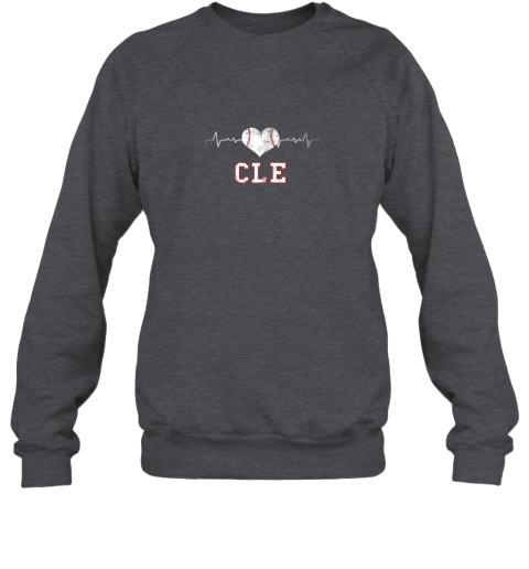 4vy5 cleveland baseball shirt cleveland ohio heart beat cle sweatshirt 35 front dark heather