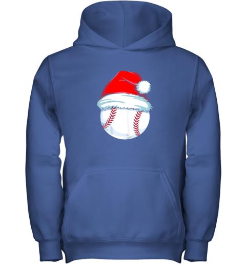 e3vp christmas baseball shirt for kids men ball santa pajama youth hoodie 43 front royal
