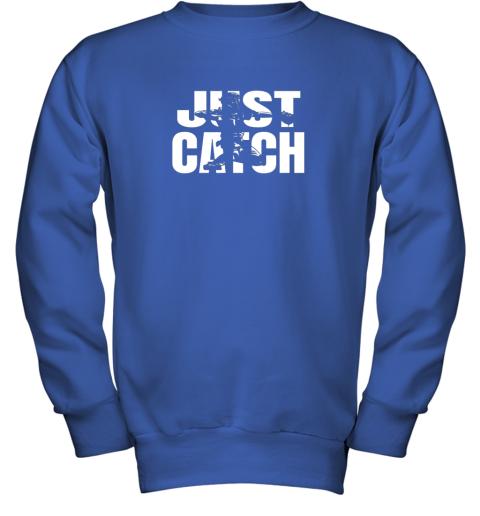 x02p just catch baseball catchers long sleeve shirt baseballisms youth sweatshirt 47 front royal