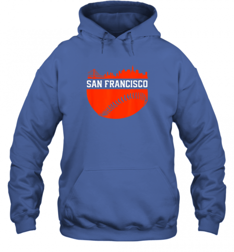 hpf3 san francisco baseball vintage sf the city skyline gift hoodie 23 front royal