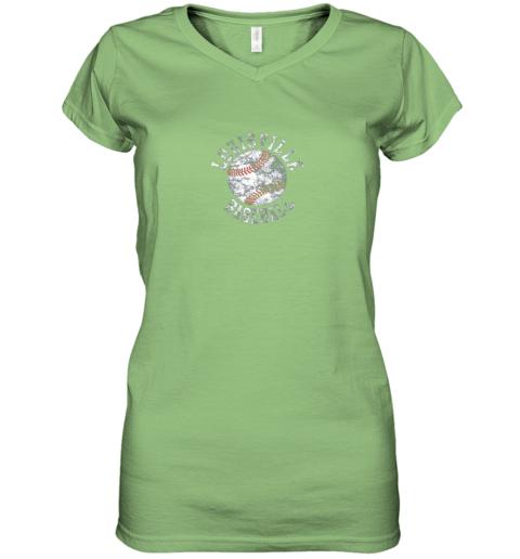 gtnk vintage louisville baseball women v neck t shirt 39 front lime