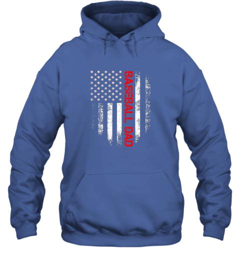 lj8q vintage usa american flag proud baseball dad player hoodie 23 front royal