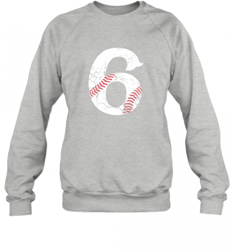 3lul kids happy birthday 6th 6 year old baseball gift boys girls 2013 sweatshirt 35 front sport grey