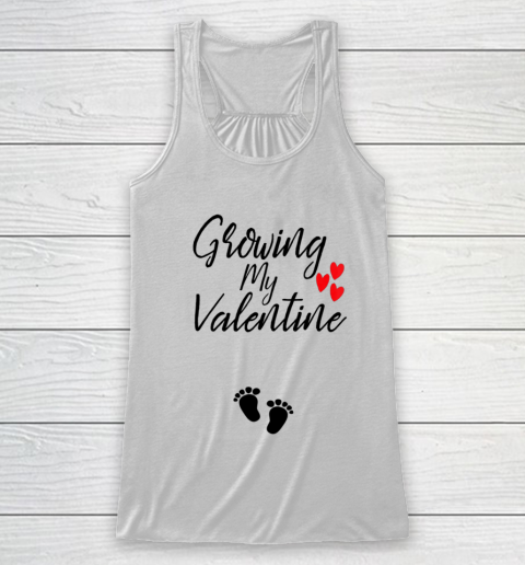 Womens Growing My Valentine Great Family Gift Racerback Tank