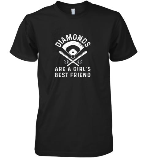 Diamonds are a Girl's Best Friend Baseball Premium Men's T-Shirt
