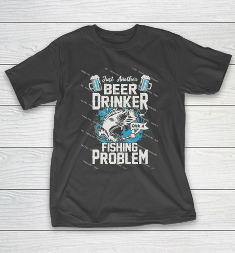 Beer Lover Funny Shirt Fishing ANd Beer T-Shirt 1
