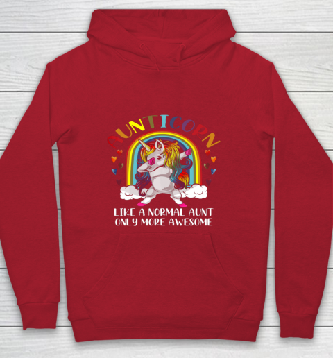 Aunticorn Like An Aunt Only Awesome Dabbing Unicorn Youth Hoodie 7