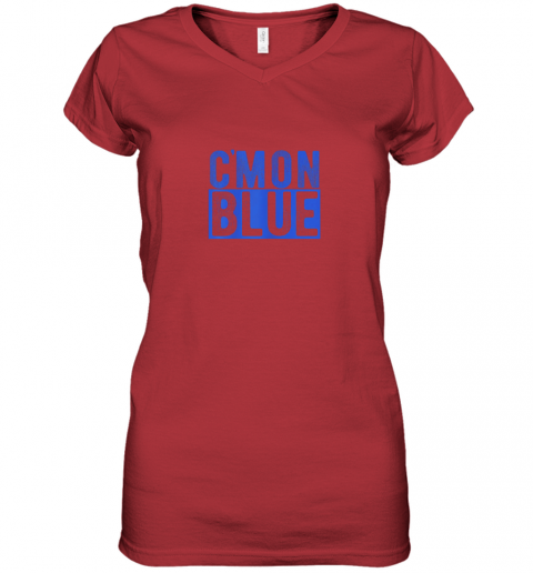 qwwy cmon blue umpire baseball fan graphic lover gift women v neck t shirt 39 front red