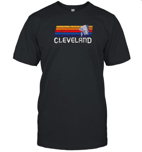 Retro Cleveland Shirt Native American Baseball Skyline Unisex Jersey Tee