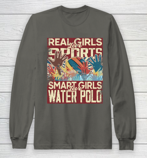 Real girls love sports smart girls love water polo Long Sleeve T-Shirt 5