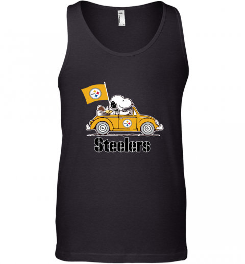 Snoopy And Woodstock Ride The Pittsburg Steelers Car Tank Top
