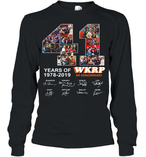 41 Years Of Wkrp In Cincinnati Signature Youth Long Sleeve