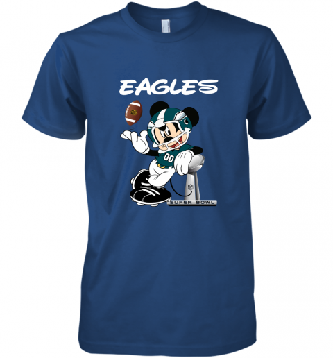 yz1k mickey eagles taking the super bowl trophy football premium guys tee 5 front royal