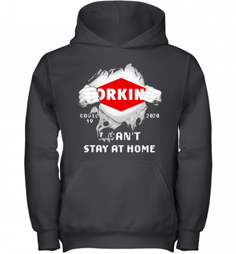 Blood Insides Orkin Covid 19 2020 I Can'T Stay At Home Youth Hoodie