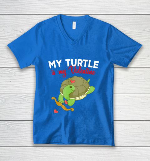 Turtle Valentine T Shirt Sea Turtle Cupid Valentines Day V-Neck T-Shirt 5