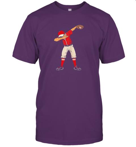 lo1e dabbing baseball catcher gift shirt kids men boys bzr jersey t shirt 60 front team purple