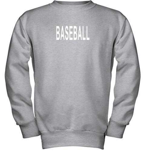 nm26 shirt that says baseball youth sweatshirt 47 front sport grey