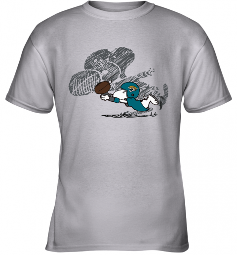 Jacksonville Jaguars Snoopy Plays The Football Game Youth T-Shirt