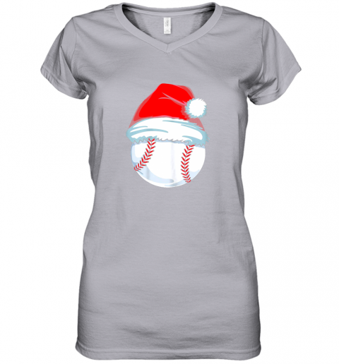 olng christmas baseball shirt for kids men ball santa pajama women v neck t shirt 39 front sport grey