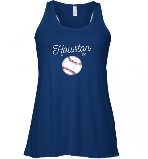 a7vj houston baseball shirt astro number 19 and giant ball flowy tank 32 front true royal