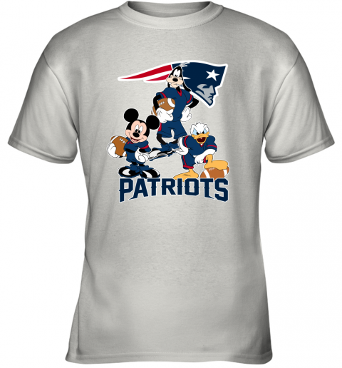 Mickey Donald Goofy The Three New England Patriots Football Youth T-Shirt