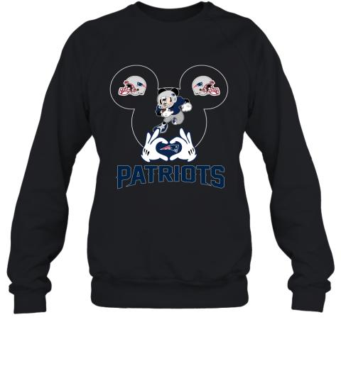 I Love The Patriots Mickey Mouse New England Patriots Sweatshirt
