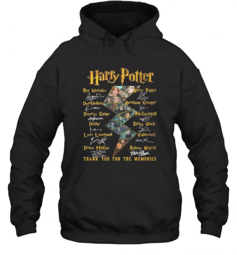 Harry Potter Thank You For The Memories Characters Signatures Hoodie
