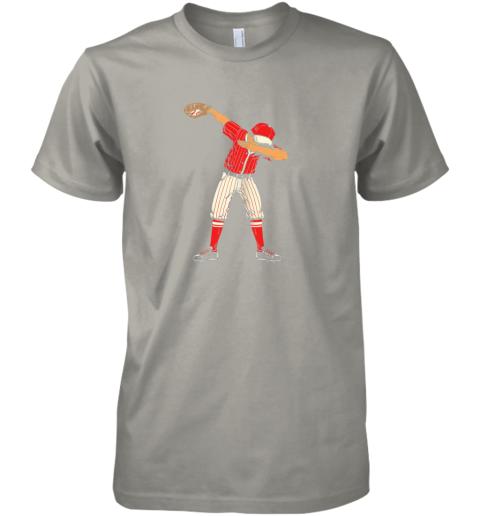pipz dabbing baseball catcher gift shirt men boys kids bzr premium guys tee 5 front light grey