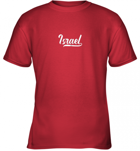 jv2n israel baseball national team fan cool jewish sport youth t shirt 26 front red