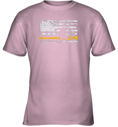 fdqx softball catcher shirts baseball catcher american flag youth t shirt 26 front light pink