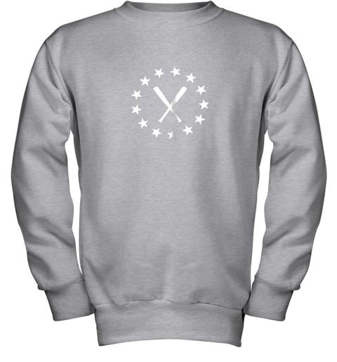 ecxv baseball with bats shirt baseballin player gear gifts youth sweatshirt 47 front sport grey