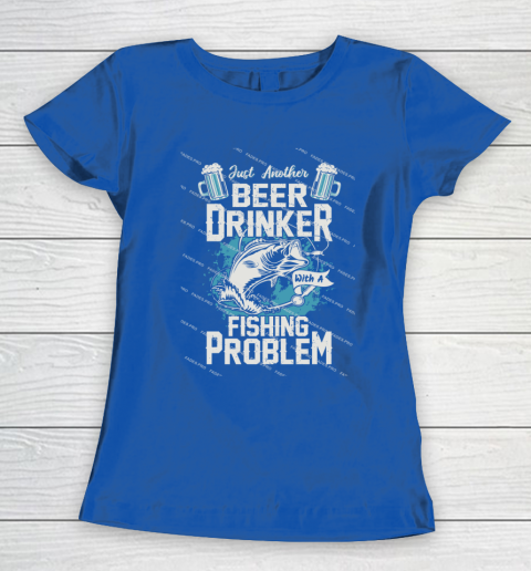 Beer Lover Funny Shirt Fishing ANd Beer Women's T-Shirt 8