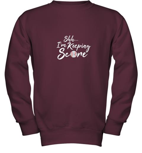 tt8o scorekeeper baseball team scorebook keeper youth sweatshirt 47 front maroon