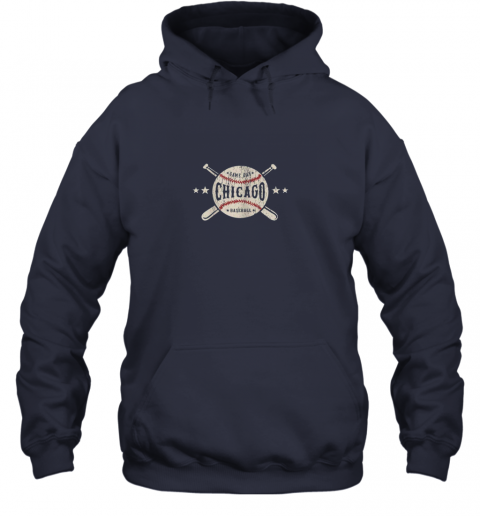 g92i chicago illinois il shirt vintage baseball graphic hoodie 23 front navy