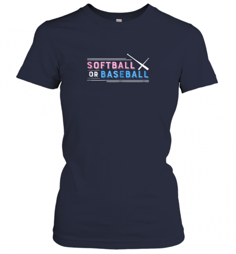 01ct softball or baseball shirt sports gender reveal ladies t shirt 20 front navy